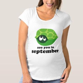 T-shirt mignon de maternité de tortue d'échéance