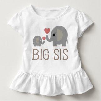 T-shirt mignon de ruche d'éléphants de grandes