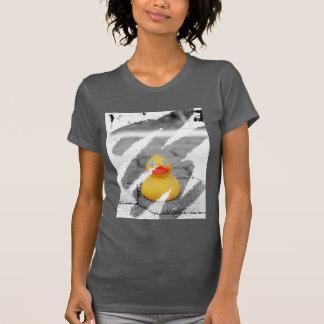 T-shirt mignon en caoutchouc jaune de route de