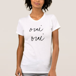 T-shirt mignon vintage d'oui d'oui
