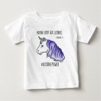 """T-shirt """"mijn moeder gelooft in de eenhoorns"""""""