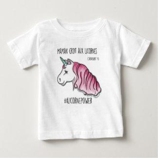 """T-shirt """"mijn moeder gelooft in de eenhoorns"""" *"""