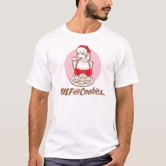 T-SHIRT MILF AND COOKIES EN ROSE VIF