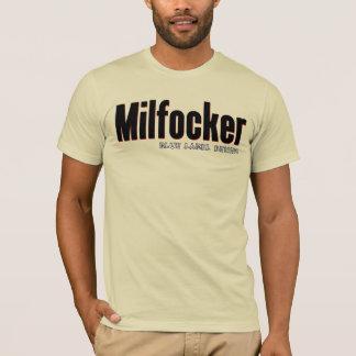 T-shirt Milfocker - denim bleu d'étiquette