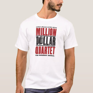 T-shirt Million de logo de quartet du dollar