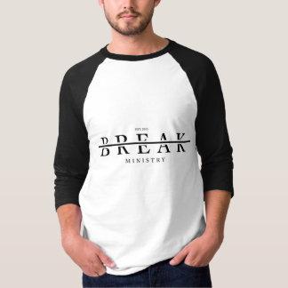 T-shirt Ministère de coupure : Pièce en t de base-ball de