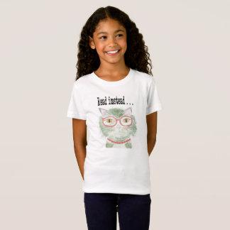 T-Shirt Minou de lecture de hanche