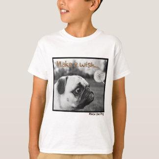 T-shirt Mochi le carlin font un souhait