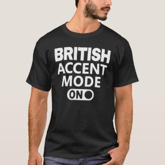 T-shirt Mode britannique d'accent dessus