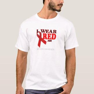 T-SHIRT MODÈLE DE MOIS DE CONSCIENCE DE SIDA D'HIV