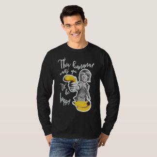 T-shirt Moletom noir banane veut que tu c'est heureux