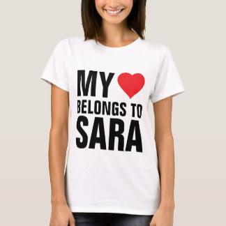 T-shirt Mon coeur appartient à Sara