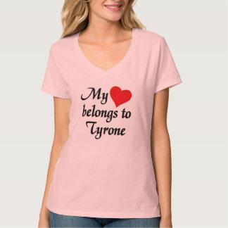 T-shirt Mon coeur appartient à Tyrone