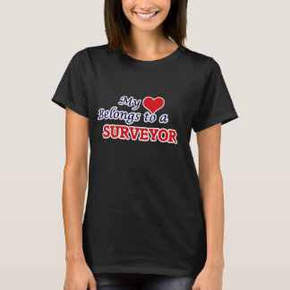 T-shirt Mon coeur appartient à un arpenteur