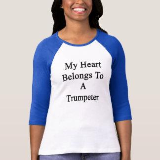 T-shirt Mon coeur appartient à un trompettiste