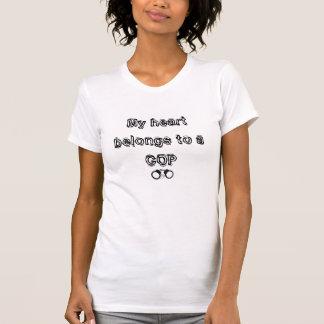 T-shirt Mon coeur appartient à une CANNETTE DE FIL