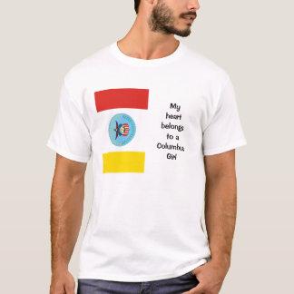 T-shirt Mon coeur appartient à une fille de Columbus