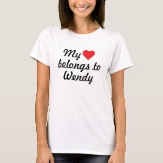 T-shirt Mon coeur appartient à Wendy