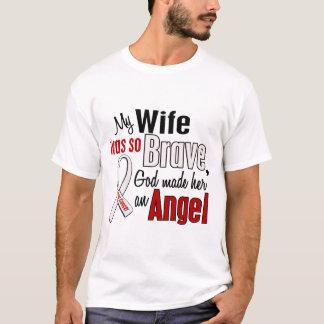 T-shirt Mon épouse est un cancer de poumon d'ange