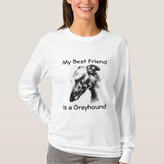 T-shirt Mon meilleur ami est un beau chien de lévrier