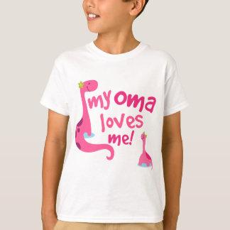 T-shirt Mon Oma m'aime dinosaure