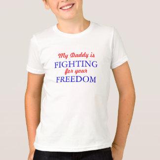 T-shirt Mon papa combat