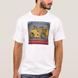 T-shirt Mon papa conduit un casquette de grattoir d'engin