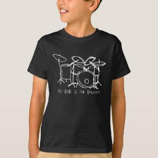 T-shirt Mon papa est la pièce en t d'obscurité de batteur