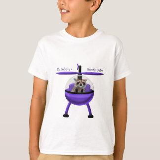 T-shirt Mon papa est un capitaine d'hélicoptère