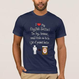 T-shirt Mon poseur anglais aime le beurre d'arachide