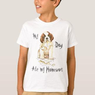T-shirt Mon St Bernard a mangé mon travail