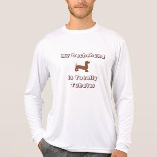 T-shirt Mon teckel est longue douille totalement tubulaire