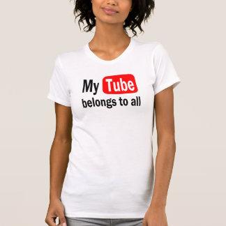 T-shirt Mon tube appartient la conception YouTube d'Aston