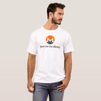 T-shirt Monero - montrez-moi l'argent ! avec le logo