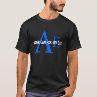 T-shirt Monogramme américain de race de chien esquimau