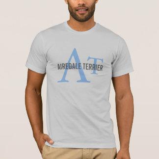 T-shirt Monogramme de race d'Airedale Terrier