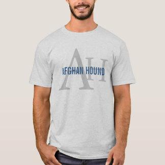 T-shirt Monogramme de race de lévrier afghan