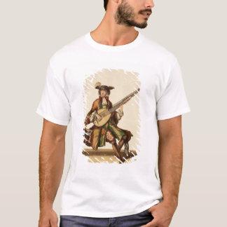 T-shirt Monsieur jouant l'angélique officinale, plat de