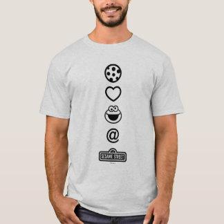 T-shirt Monstre de biscuit d'amour de biscuit