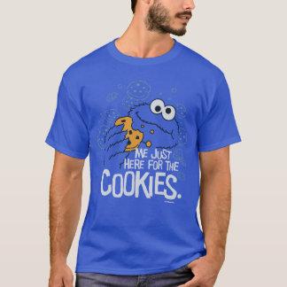 T-shirt Monstre de biscuit | je juste ici pour les