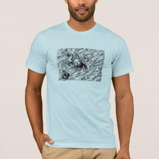 T-shirt Monstre de mer et bateau de navigation arctiques