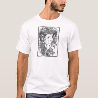T-shirt Monté a piqué le croquis de crayon dans le blanc