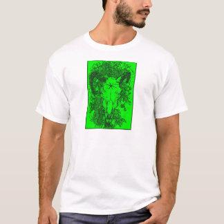 T-shirt Monté a piqué le croquis de crayon en vert