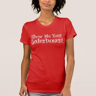 T-shirt Montrez-moi votre partie d'Allemand de Lederhosen
