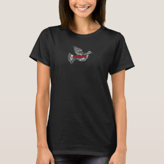 T-shirt Mosaïque végétalienne de colombe de paix de