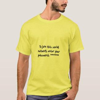 T-shirt Mot de passe de réseau social