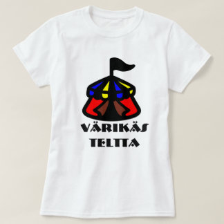 T-shirt Mot finlandais pour la tente colorée : teltta de