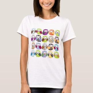 T-shirt Motif coloré de hibou