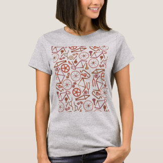 T-shirt Motif de bicyclette (RB)