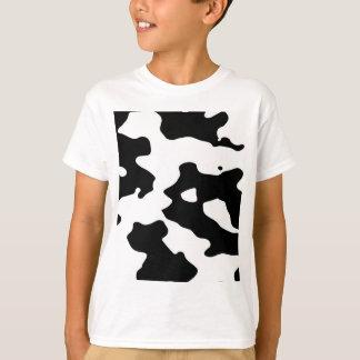 T-shirt Motif de vache noir et blanc